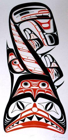 Dogfish Robert Davidson (Haida) serigraph edition 70 (1971)