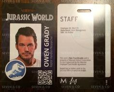 Jurassic World Replica ID Badge - Owen Grady