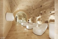 Gallery of Aquatio Cave Luxury Hotel & SPA / Simone Micheli - 11 Luxury Swimming Pools, Luxury Pools, Luxury Spa, Spa Interior Design, Spa Design, Spa Day At Home, Home Spa, Spa Lounge, Lounge Areas