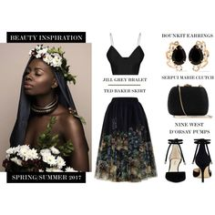 A fashion look from March 2017 featuring Ted Baker skirts, Nine West pumps and Serpui clutches. Browse and shop related looks.