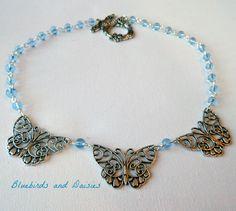 Triple butterfly necklace