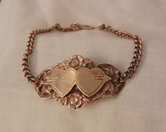 Always something exciting in store July 10 to 60 % Off many items saleDouble heart and arrow Circa 40 Sweetheart Link Bracelet