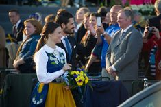 The duo participated in Sweden's National Day celebrations in June 2015, with Sofia wearing a traditional dress.
