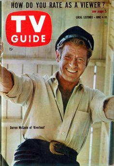 "Darren McGavin of ""Riverboat"" June 4-10, 1960"