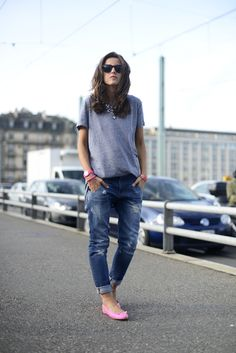 casual, knit, jeans, denim, pink, girl, fashion, style,