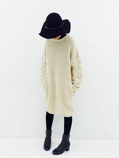haco!|maruさんの「NUSY パプコーン編みがかわいいおしゃれニットワンピース(haco!|ハコ)」を使ったコーディネート