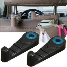 New 2x Universal Car Back Seat Headrest Luggage Purse Bags Hanger Hook Holder Black