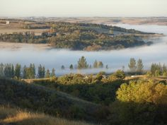 Mist on the Souris River at Oxbow, Saskatchewan