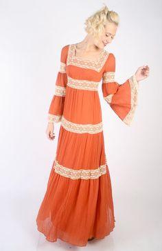 1970s Dress // vintage 70s cotton // Fall by dethrosevintage, $118.00