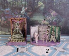 Puppet theater.  Dolls house miniature. Handcrafted miniature.