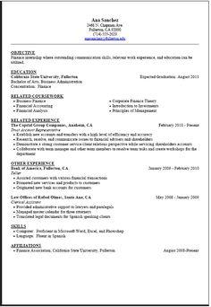 Sample College Student Resume For Internship | Resume CV Cover Letter