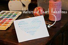 Henrietta and Clementine: Watercolor Heart Valentines