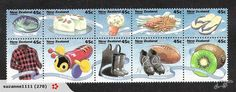 Kiwiana range of stamps for snail-mail Garfield Cake, Kiwiana, Love Stamps, Mail Art, Stamp Collecting, New Art, New Zealand, Image, Postage Stamps