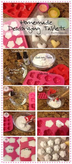 MUST for Spring Cleaning.  ♥ Homemade Deodorizer Tablets