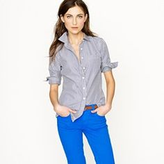 With a casual button down.  I don't think I'll go with the half tuck though....
