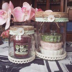 Set 2 barattoli in vetro, vintage shabby chic, diversi utilizzi! | eBay
