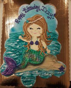 Pull Apart Cupcake Cake, Pull Apart Cake, Cake And Cupcake Stand, Cake Stands, Cupcake Cookies, Mermaid Birthday, 7th Birthday, Birthday Cakes, Birthday Ideas