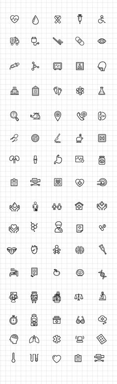 Medical and Science Outline Icon Set Free PSD by PSDFreebies #icon #freebie