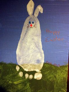 Footprint Easter Bunny.