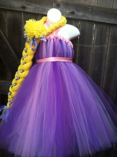 Adult Rapunzel Costume Tangled Inspired Tutu by FancifulFluff, $110.00