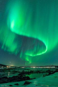 Auroras Taken by Harald Albrigtsen on March 4, 2014 @ Tromsø, Norway.