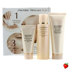 Shiseido Benefiance 1-2-3 Kit: Balancing Softener Enriched 100 ml + Cleansing Foam 75ml  + Day Cream 30ml 3pcs #Shiseido #Skincare #Valentine #FREEShipping #StrawberryNET #Giveaway #GiftSet