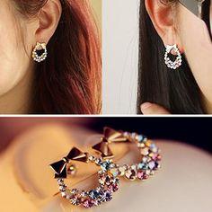 Nordahl Andersen Oxidised Silver Black Circle Ear Dangle 12mm Earrings Gift New