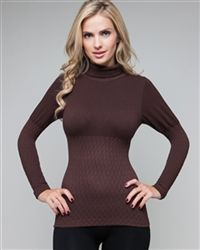 Top Brown Seamless Ruched - 95 % Nylon - 5 % Spandex Color : Brown Size : One size Love Fashion, Turtle Neck, Spandex, Brown, Sweaters, Color, Tops, Women, Sweater