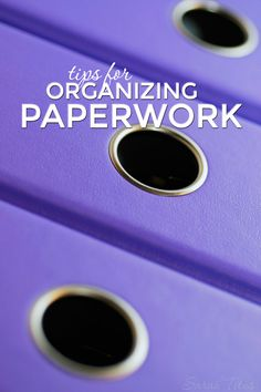 Does the thought of organizing paperwork make you cringe? I'm a paper-hater, but I've found ways of overcoming that paper monster, and you can too! Tips for Organizing Paperwork Spring Cleaning Organization, Organizing Paperwork, Paper Organization, Office Organization, Organizing Life, Organization Ideas, Paper Clutter, Getting Organized, How To Plan