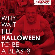 Get at it #SnapNation! #Halloween #BeastMode