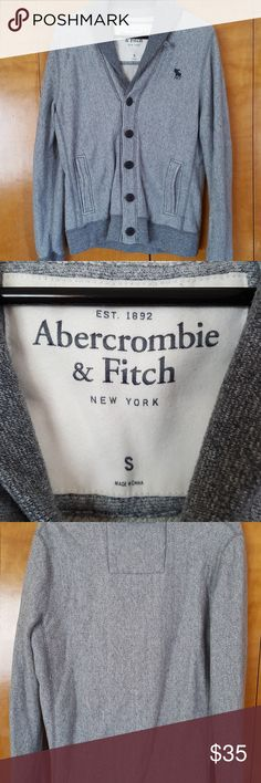 Abercrombie & Fitch Men's Grey Cardigan Men's grey cardigan.  Size small. Purchased from Abercrombie & Fitch.  Like new! Abercrombie & Fitch Sweaters Cardigan
