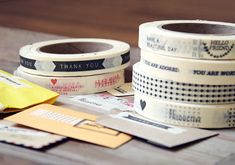 oh, hello friend: you are loved.: Message Tape:    LOVE THEM ALL, but the Postal themed one is my FAV!!