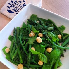 We are bringing the green of the fields inside today with this herbed salad of green beans, asparagus and mange tout with hazelnuts and .... Cheese!! #artisancheese #Bath #cheeseshop #organicfood #localfood #organiccheese #foodporn