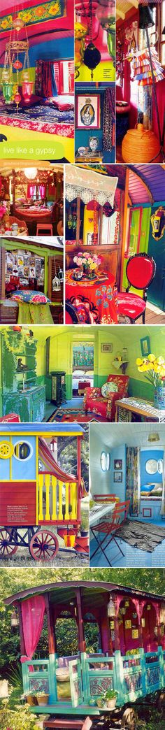colorful-gypsy-caravan-roulotte---I want to live here!
