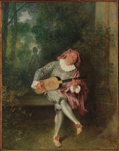 Jean-Antoine Watteau, Mezzetin, 1718-20, New York, Metropolitan Museum, watteau mysteries rococo