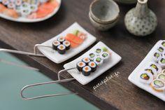 Sushi Dangle Earrings - Rectangle