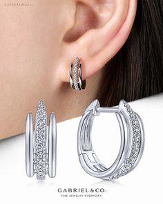 Jewelry Design Earrings, Gold Earrings Designs, Ear Jewelry, Fashion Earrings, Gold Jewelry, Real Diamond Earrings, Mens Silver Earrings, Simple Earrings, Diamonds