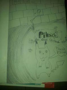 Pokemon - Pikacu - gemalt mit 7 Jahren