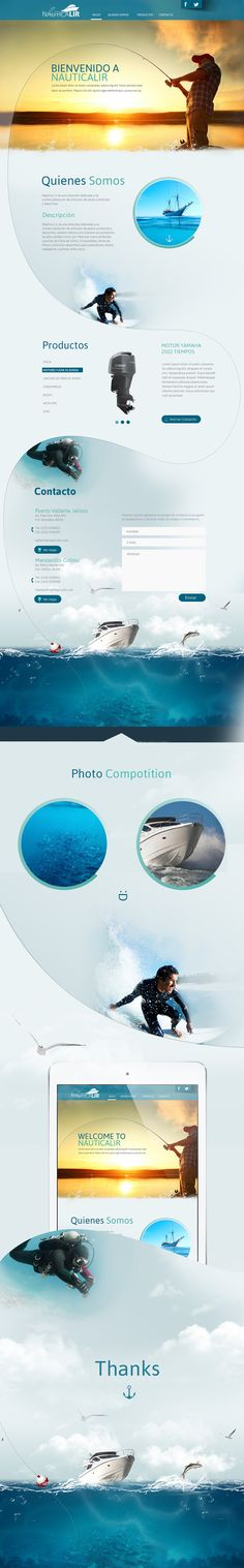 Unique Web Design, Nauticalir #WebDesign #Design…