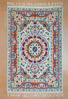 beautiful mandala rug a very floral rug and great as a 5x7 area rug - 5x7 Area Rugs