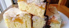 Recept Meruňkové řezy s kokosovou peřinou Cornbread, Vanilla Cake, Panna Cotta, Ethnic Recipes, Millet Bread, Dulce De Leche, Corn Bread