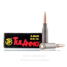 TulAmmo 5.45x39 Ammo - 20 Rounds of 60 Grain FMJ Ammunition #545x39 #545x39Ammo #Tula #TulAmmo #Tula545x39 #FMJAmmo