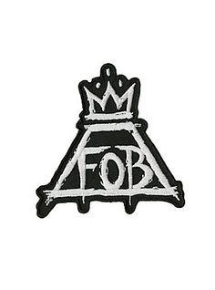 Fallout Boy Crown Logo Iron-On Patch,