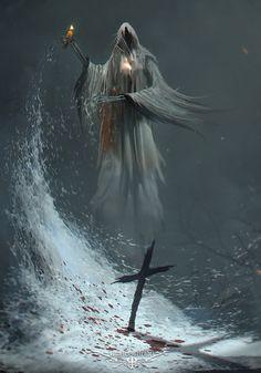 Paranormal Oath by ramsesmelendeze Death Reaper, Grim Reaper Art, Grim Reaper Tattoo, Don't Fear The Reaper, Dark Artwork, Dark Art Drawings, Gothic Images, Gothic Art, Dark Fantasy Art
