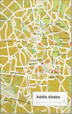 Map Of Addis Ababa, Ethiopia