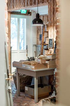 Come on in, here are our wrought iron wares - Tervetuloa, ja tästä löytyy heti meidän takorautaiset tarpeet Home Renovation, Desk, Store, Furniture, Home Decor, Desktop, Decoration Home, Room Decor, Table Desk