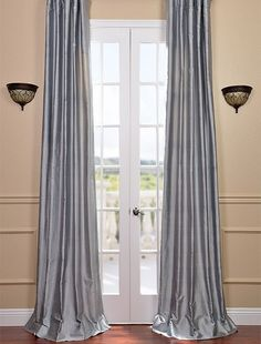 Shop Blue Water Silk Curtains And Drapes