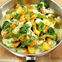 Chicken Pan with Vegetables Recipes Weight watchers rezepte calorie dinner calorie food calorie recipes Weight Watchers Chicken, Weight Watchers Meals, Lunch Recipes, Vegetarian Recipes, Healthy Recipes, Vegetable Recipes, Chicken Recipes, Vegetable Dishes, Law Carb