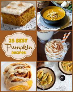 25 Best #Pumpkin #Recipes from around the Web!