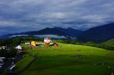 Taiwan Balloon Fiesta in Taitung, Taiwan  Although this event only started up in 2011, the mountain scenery makes this one of the most beautiful locations for ballooning.-----------Hot-Air Balloon Festivals From Around The World (26 Images) | Streetloop